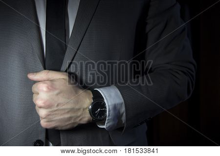 Men's, strict, business-style clothing, strict style, man