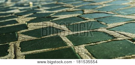 Tile, decorative tile background. Mosaic background. The colored tiles. Mosaic. Green mosaic.