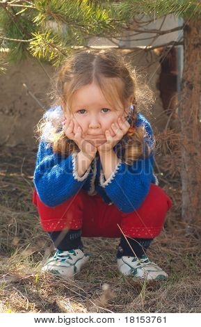 Little Girl Sad Face