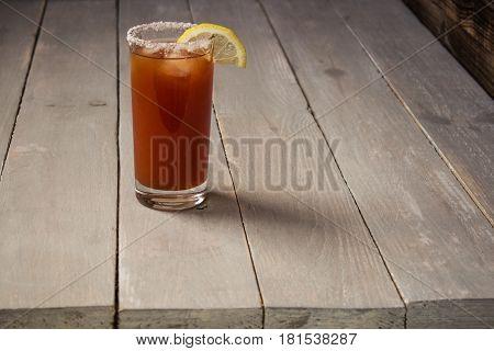 Tomato Juice With Salt And Lemon