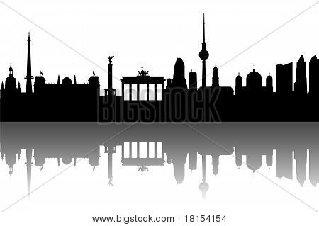 Silhouette Berlin abstract