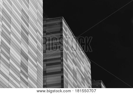 Apex Building In Monochrome