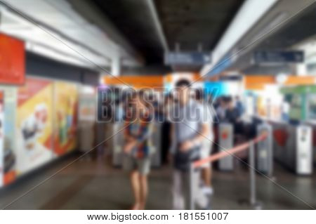 Blurred Photo, Blurry Image, People At Station Electric Train, Background
