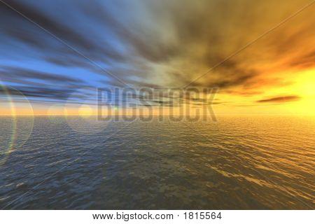 Oceanic Sunset 3D