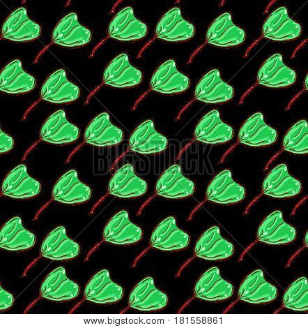 Seamless vector spring background. Can be used as packing paper, pattern for textile. Foliage