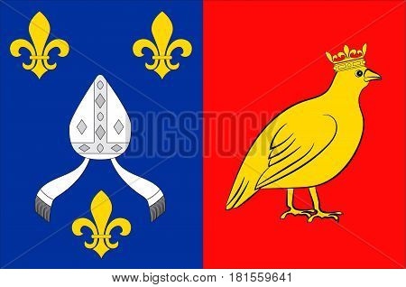 Flag of Charente-Maritime is a department on the southwestern coast of France. Vector illustration