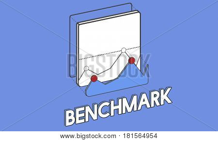 Benchmark business icon graphic infomation