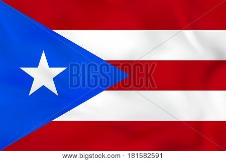 Puerto Rico Waving Flag. Puerto Rico National Flag Background Texture.
