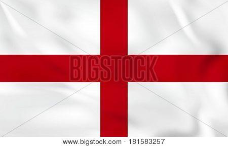 England Waving Flag. England National Flag Background Texture.