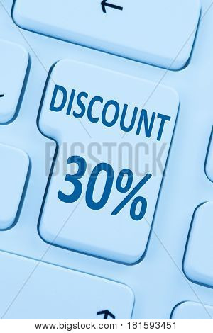 30% Thirty Percent Discount Button Coupon Sale Online Shopping Internet Shop