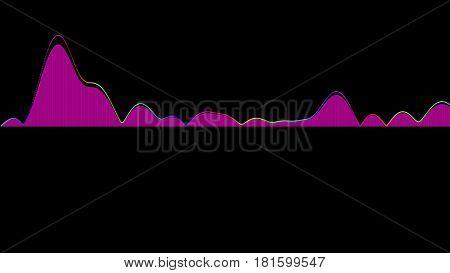 Audio Wave Forms Diagrams Equaliser Background 3D Rendering