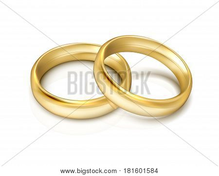 vector gold ring  isolated on white background