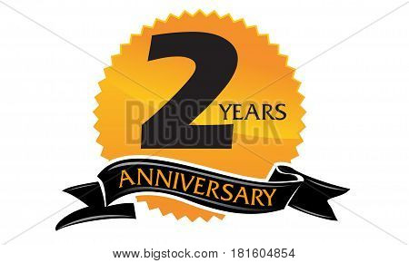 2 Years Ribbon Anniversary Congratulation Ceremony Celebration