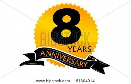 8 Years Ribbon Anniversary Congratulation Ceremony Celebration