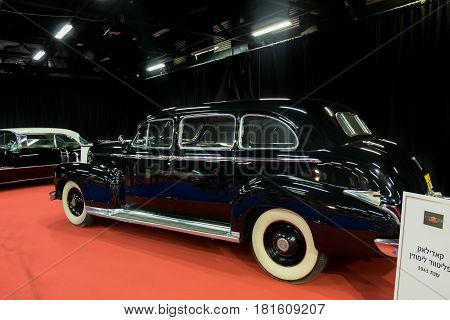 Cadillac Fleetwood Limousine 1941 Displayed In Tel-aviv. Israel
