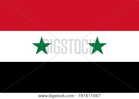 Illustration of the national flag of Syria