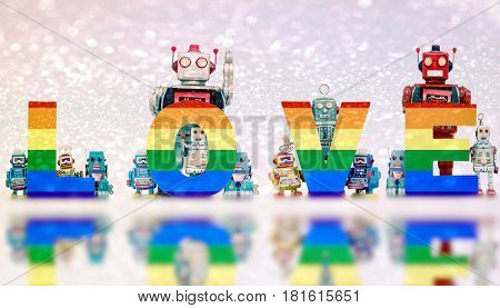 gay love and flitter with robots