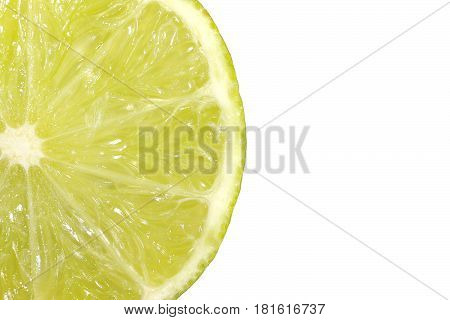Macrophotography of the pulp of a fresh lemon