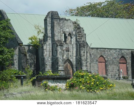 Ruins of the old sugar mill, St Kitts One iof the major heritage sites of the island