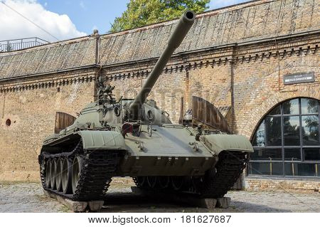 Military T-55 Tank Poland