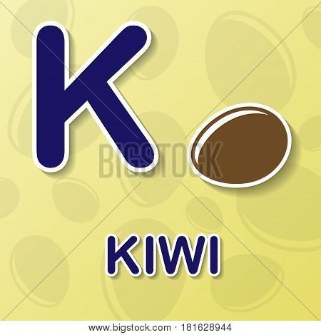 Kiwi symbol with letter K and word