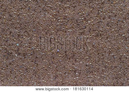 abstract texture and background of mesh fabric of brown color with beads and spangles