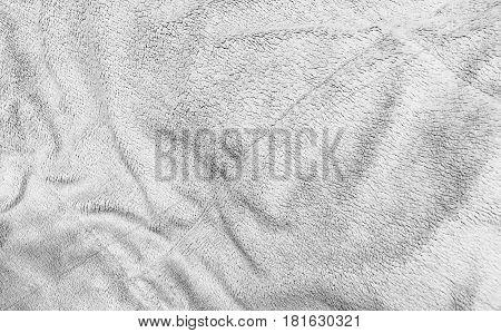 Fabric Texture Close Up of Banket Plush Pattern Background with Copy Space for Text Decoration.