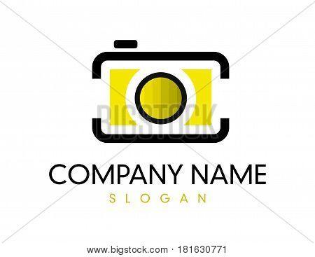 Yellow Camera logotype on a White background