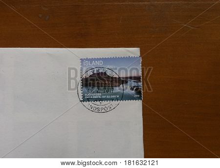 Mail Stamp From Island