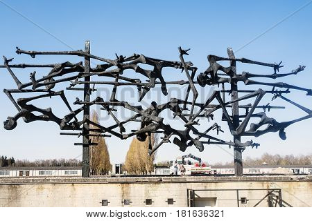 Memorial Monument In Memory Of The Dead Prisoners In The Dachau Concentration Camp