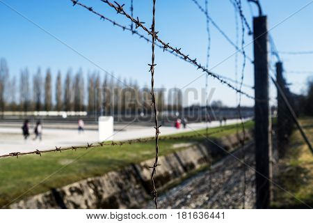 Fencing On The Fence Outside The Dachau Concentration Camp