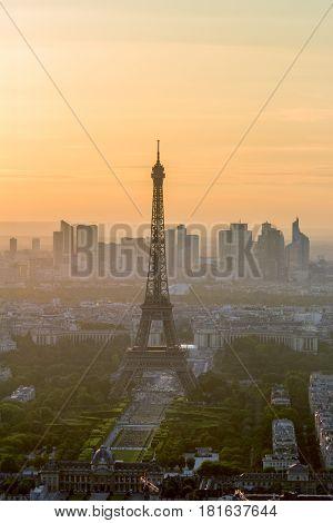 Paris Eiffel Tower Sunset View