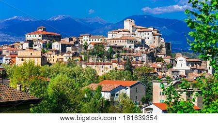 Traditional beautiful village (borgo) of Italy - medieval Ceccano, Lazio region