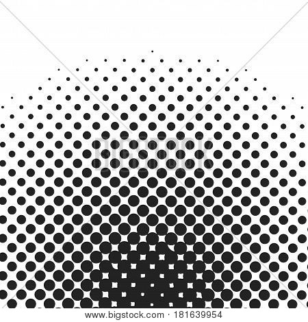 Halftone circles halftone dot pattern. Vector illustration.