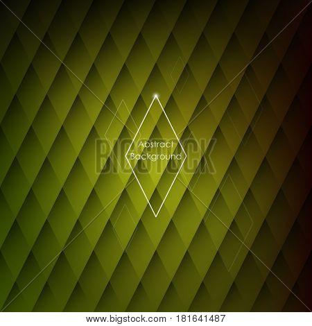 Modern stylish background. Geometric yellow tiles . Rhombic wallpaper textures.