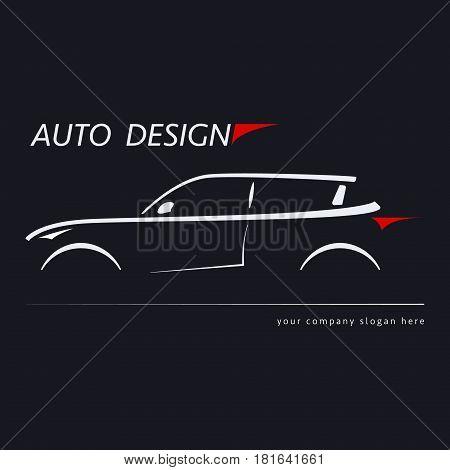 Design car. Concept automotive topics. Vector illustration.