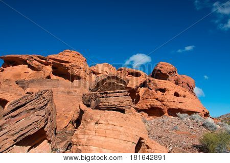 Red Rock Sandstone In The Lake Mead National Recreation Area, Nevada