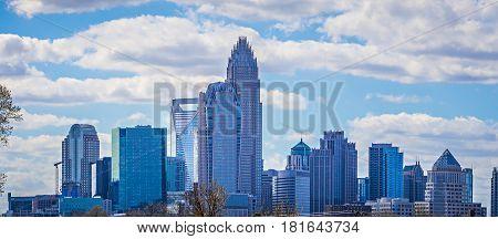 Charlotte north carolina city skyline and downtown