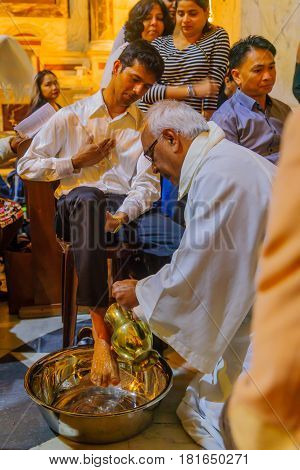 Holy Thursday In The Stella Maris Carmelite Monastery, Haifa