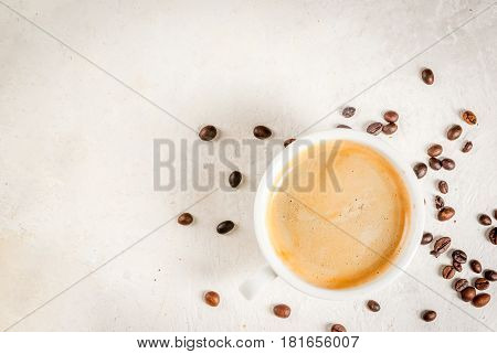 Coffee And Sugar On White Table
