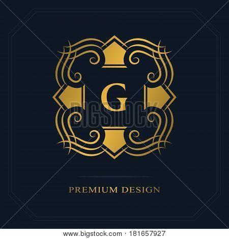 Modern logo design. Geometric initial monogram template. Letter emblem G. Mark of distinction. Universal business sign for brand name company business card badge. Vector illustration