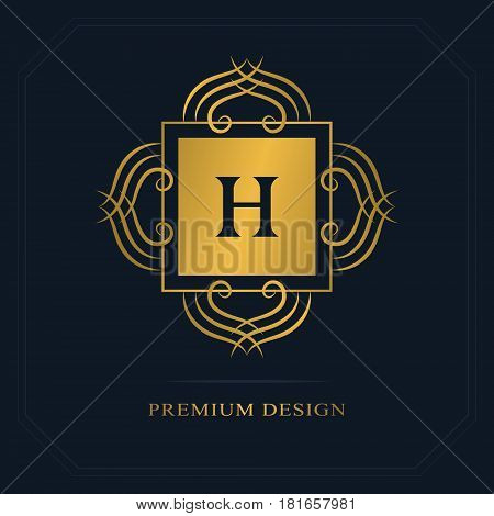 Modern logo design. Geometric initial monogram template. Letter emblem H. Mark of distinction. Universal business sign for brand name company business card badge. Vector illustration
