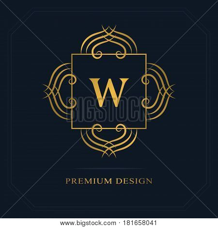 Modern logo design. Geometric initial monogram template. Letter emblem W. Mark of distinction. Universal business sign for brand name company business card badge. Vector illustration