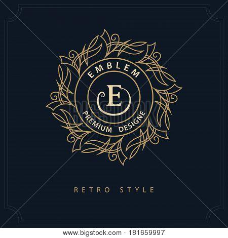 Modern logo design. Geometric initial monogram template. Letter emblem E. Mark of distinction. Universal business sign for brand name company business card badge. Vector illustration