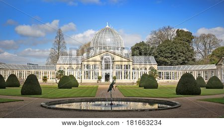 Large Glass House in the grounds of Syon House owned by the Duke of Northumberland is a popular place for tourists to visit.  It os open to the public from Easter to Summer.  Brentford, March 2017