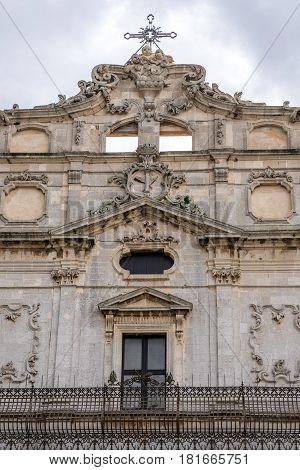 Abbey Church of Saint Lucy on Ortygia isle Syracuse city Sicily Island in Italy