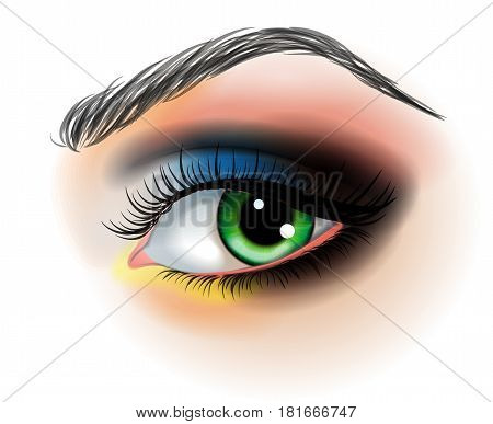Eye make up vector illustration  isolated on white background