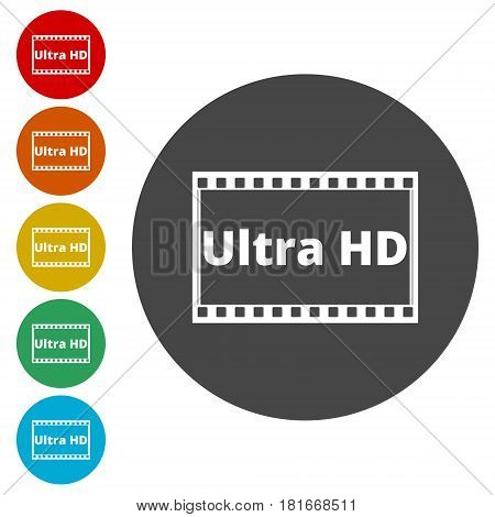Ultra HD icon, simple vector icon on white background