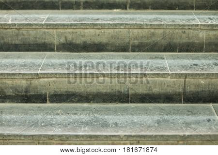 Background of stairs from granite in gray tones