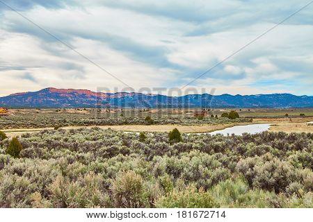 Incredibly beautiful landscape in Zion National Park, Washington County, Utah, USA.
